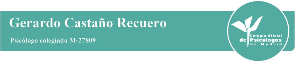 Gerardo Castaño Recuero colegiado nº M-27809