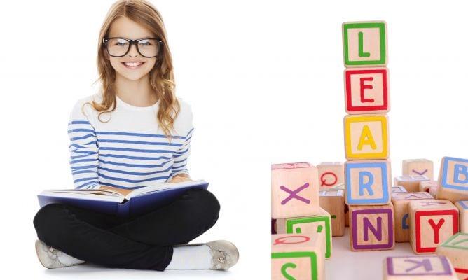 niña aprendiendo ingles