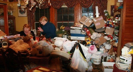 Tonelas de basura en los hogares