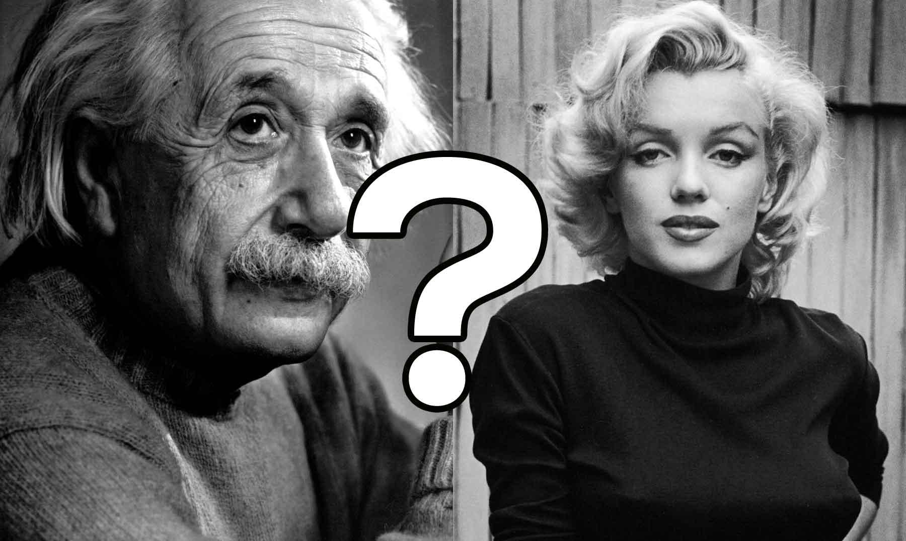 Marilyn Monroe y Albert Einstein