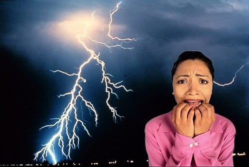 Brontofobia o miedo a las tormentas