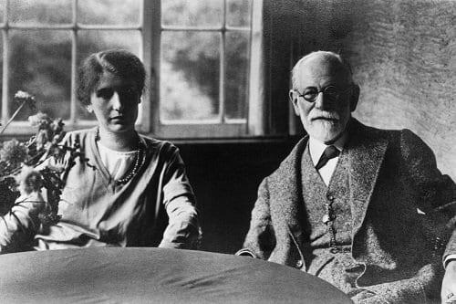 Sigmund Freud y su hija Anna