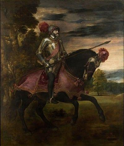 Carlos V en Mühlberg - Retrato de Tiziano