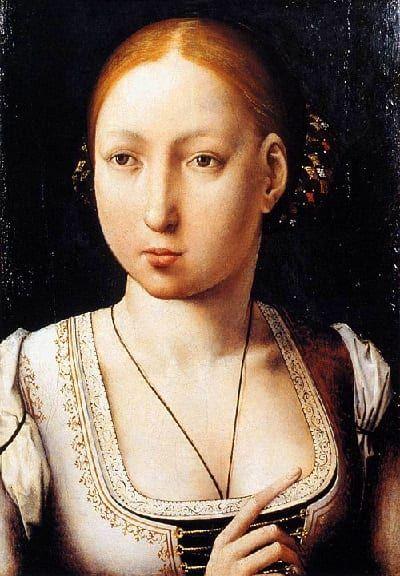 Juana La Loca retratada por Juan de Flandes