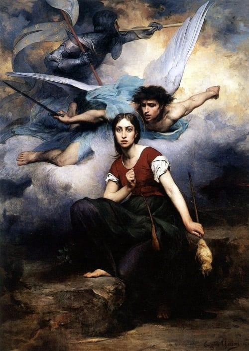 El arcángel San Gabriel revela a Juana de Arco su misión