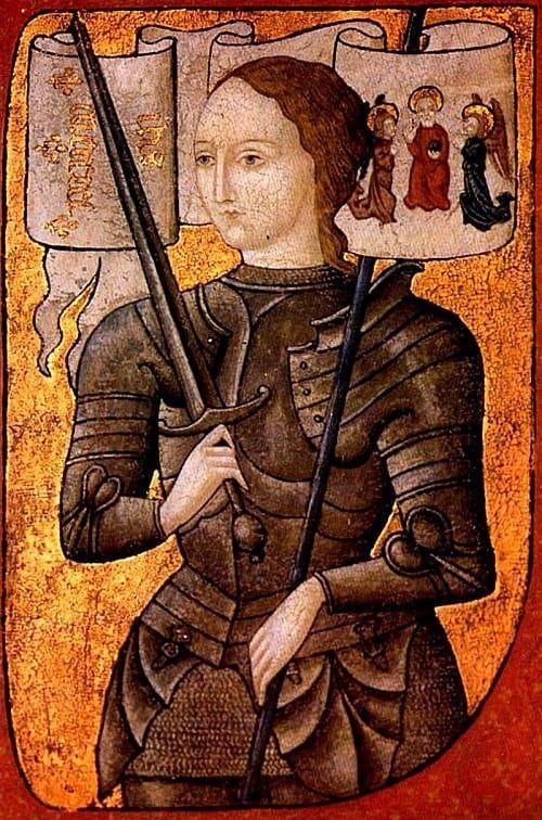 Miniatura representando a Juana de Arco