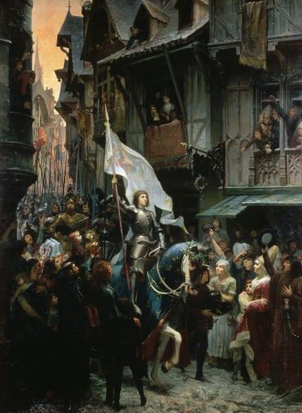 Juana de Arco entrando victoriosa en Orleans