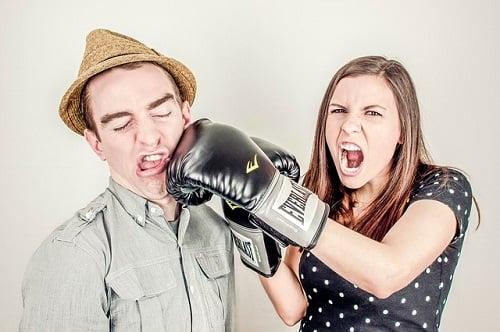 Hostilidad en la pareja tras una ruptura