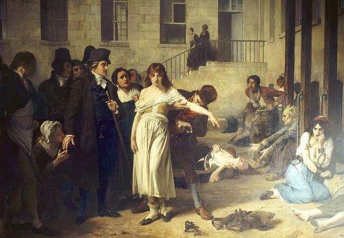Pacientes histéricas de Charcot en el hospital de la Salpetriere