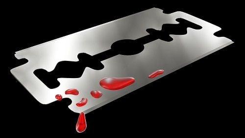 Autolesiones provocadas con cuchillas de afeitar