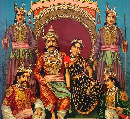Parafilias - Poliandria - Draupadi y los Pandavas