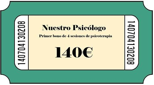 Nuestro psicólogo en Madrid. Primer bono.